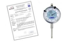 CZUJNIK ZEGAROWY 25/0,01 mm ze świadectwem wzorcowania PCA