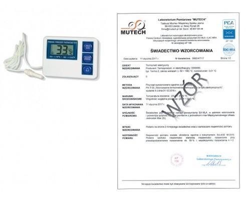 Termometr elektroniczny RT804 ze świadectwem wzorcowania
