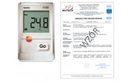 Rejestrator temperatury TESTO 174T ZESTAW ze świadectwem wzorcowania PCA /bez świadectwa wzorcowania