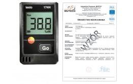 Rejestrator temperatury i wilgotności TESTO 174H ze świadectwem wzorcowania PCA /bez śwadectwa wzorcowania