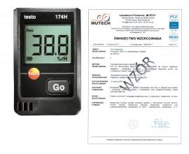 Rejestrator temperatury i wilgotności TESTO 174H ZESTAW ze świadectwem wzorcowania