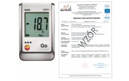 1-kanałowy rejestrator temperatury TESTO 175 T1 ze świadectwem wzorcowania PCA /bez świadectwa wzorcowania