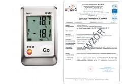 2-kanałowy rejestrator temperatury TESTO 175 T2 ze świadectwem wzorcowania PCA /bez świadectwa wzorcowania