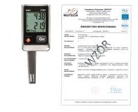 2-kanałowy rejestrator temperatury i wilgotności TESTO 175 H1 ze świadectwem wzorcowania