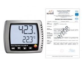 Termohigrometr TESTO 608 H2 ze świadectwem wzorcowania