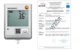 TESTO Saveris 2-T1 ze świadectwem wzorcowania PCA /bez świadectwa wzorcowania