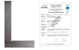 Kątownik płaski 200x130 mm ze świadectwem wzorcowania PCA