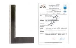 Kątownik warsztatowy krawędziowy 75x50 mm ze świadectwem wzorcowania PCA