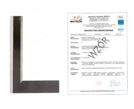 Kątownik warsztatowy krawędziowy 100x70 mm ze świadectwem wzorcowania