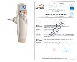 Elektroniczny termometr spożywczy testo 105 sonda 100mm ze świadectwem wzorcowania