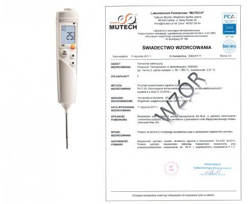 TESTO 106 - termometr dla przemysłu spożywczego (HACCP) ze świadectwem wzorcowania
