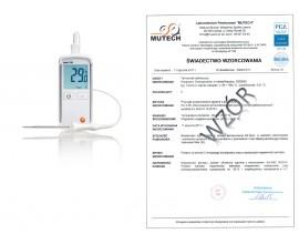 TEST 108 - Miernik do pomiaru temperatury ze świadectwem wzorcowania