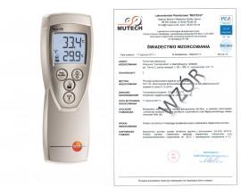TESTO 926 - miernik temperatury ze świadectwem wzorcowania