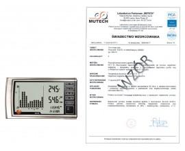 TESTO 623 - urządzenie do pomiaru temperatury i wilgotności ZE ŚWIADECTWEM WZORCOWANIA