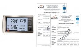 TESTO 622 termohigrobarometr ze świadectwem wzorcowania PCA
