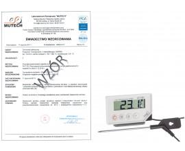 Termometr kuchenny do żywności LT-101 (-40 do 200 °C) ze świadectwem wzorcowania