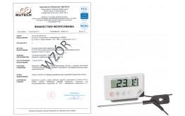 Termometr kuchenny do żywności LT-101 (-40 do 200 °C) ze świadectwem wzorcowania PCA /bez świadectwa wzorcowania