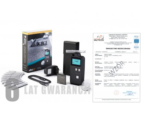 ALKOHIT X100 ze świadectwem wzorcowania PCA /bez świadectwa wzorcowania