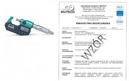 MIKROMETR ELEKTRONICZNY INSIZE (0-25) mm ze świadectwem wzorcowania PCA