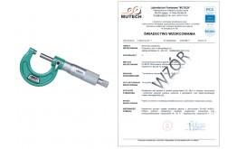 MIKROMETR ANALOGOWY INSIZE (0-25) mm ze świadectwem wzorcowania PCA