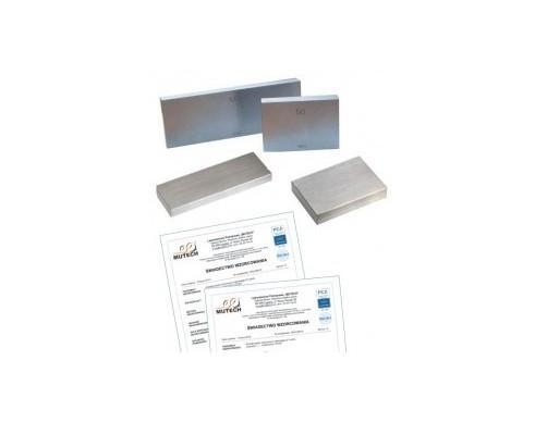 Płytka wzorcowa stalowa 20MM KL.1 ze świadectwem wzorcowania PCA