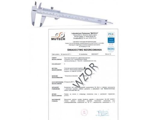 Suwmiarka analogowa 150 mm INSIZE ze świadectwem wzorcowania PCA