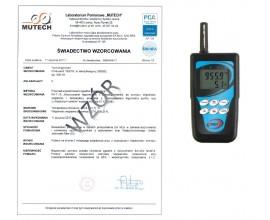 TERMOHIGROBAROMETR z rejestracją D4130 ze świadectwem wzorcowania