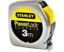 PRZYMIAR WSTĘGOWY 3 m STANLEY PowerLock® (obudowa z tworzywa) ze świadectwem wzorcowania PCA