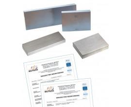 Płytka wzorcowa stalowa 1,05 mm kl. 1 ze świadectwem wzorcowania PCA