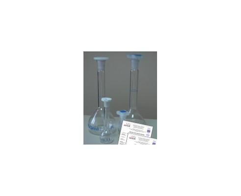 Kolba szklana z jedną kreską 25 ml ze świadectwem wzorcowania