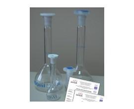 Kolba szklana z jedną kreską 100 ml ze świadectwem wzorcowania