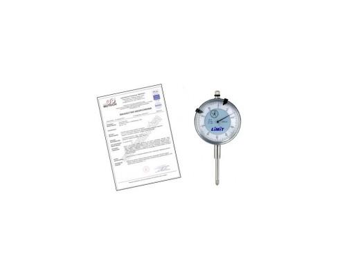 CZUJNIK ZEGAROWY 10/0,01 mm ze świadectwem wzorcowania