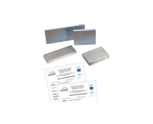 Płytka wzorcowa stalowa 0,5MM KL. 1 ze świadectwem wzorcowania