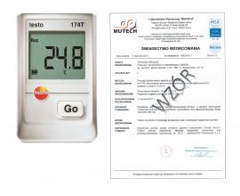 Rejestrator temperatury TESTO 174T ze świadectwem wzorcowania