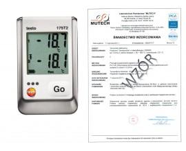 2-kanałowy rejestrator temperatury TESTO 175 T2 ze świadectwem wzorcowania