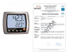 Termohigrometr TESTO 608 H1 ze świadectwem wzorcowania