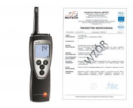 testo 625 - higrometr ze świadectwem wzorcowania /bez świadectwa wzorcowania