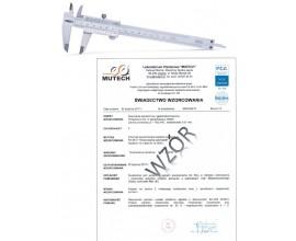 Suwmiarka analogowa 200 mm INSIZE ze świadectwem wzorcowania PCA
