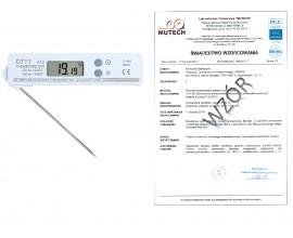 Termometr elektroniczny DT11 ze świadectwem wzorcowania PCA/bez świadectwa wzorcowania