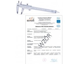 Suwmiarka analogowa 300 mm INSIZE ze świadectwem wzorcowania PCA